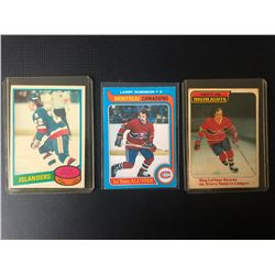 HOCKEY LEGENDS CARD LOT (BOSSY/ ROBINSON/ LAFLEUR)
