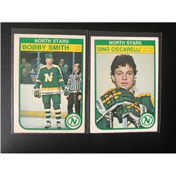 1982-83 O-Pee-Chee North Stars Hockey Card Lot (Smith/ Ciccarelli)