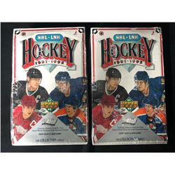 1991-92 Upper Deck Hockey Factory Sealed 2 Box Lot
