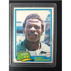 1981 O-Pee-Chee #261 Rickey Henderson