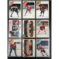 VINTAGE HOCKEY CARD LOT (GILLIES/ SALMING/ LAPOINTE...)