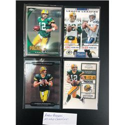 AARON RODGERS FOOTBALL TRADING CARDS LOT