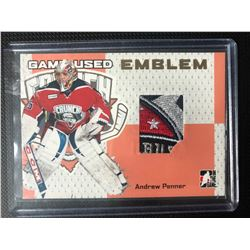 2006-07 HEROES PROSPECTS GAME-USED EMBLEM ANDREW PENNER