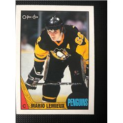 1987-1988 Mario Lemieux #15 Pittsburgh Penguins O-Pee-Chee Hockey Card
