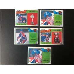 WAYNE GRETZKY HOCKEY CARD LOT (LEADER CARDS)