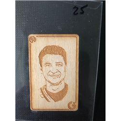 MARIO LEMIEUX WOOD ETCHED MINI CARD