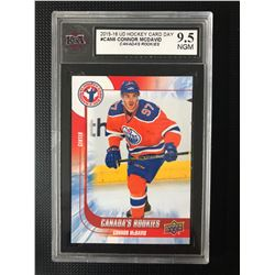 2015-16 UD HOCKEY CARD DAY #CAN6 CONNOR MCDAVID CANADA'S ROOKIES (9.5 NGM)
