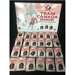 TEAM CANADA 2002 OFFICIAL PIN COLLECTION (JOURNEY TO GOLD)