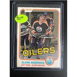1981 OPC GLEN ANDERSON ROOKIE CARD HIGH GRADE