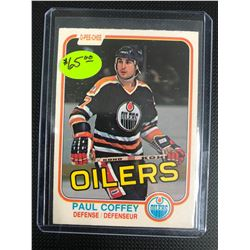 1981 OPC PAUL COFFEY ROOKIE CARD HIGH GRADE