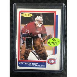 1985-86 OPC PATRICK ROY ROOKIE CARD