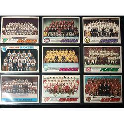 1977-78 TOPPS HOCKEY TEAMS CARD LOT
