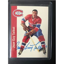 "JEAN GUY TALBOT PARKHURST ""MISSING LINK"" AUTO CARD"