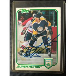 1981-82 Topps Hockey Dave Taylor #132 Signed Los Angeles Kings Super Action Card