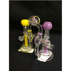 ATOMIK PICASSO PENDANT GLASS PIPE W/ BOWL X 2