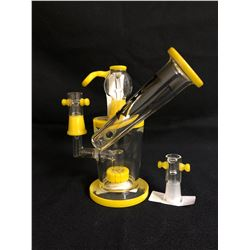 "EVOLUTION DUST DEVIL 7"" YELLO GLASS BONG"