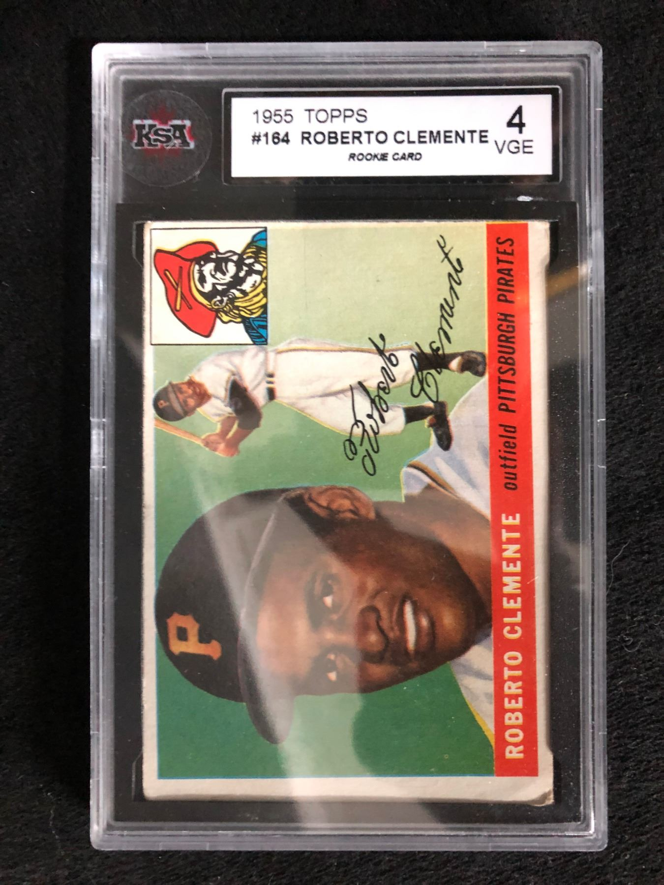 1955 Topps 164 Roberto Clemente Rookie Card 4 Vge