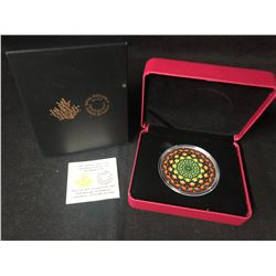 ROYAL CANADIAN MINT KALEIDOSCOPE MAPLE LEAF $20  .9999 SILVER