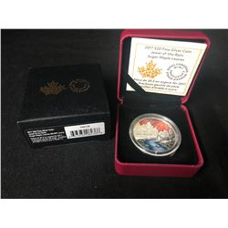 ROYAL CANADIAN MINT JEWEL OF THE RAIN SUGAR MAPLE LEAFS $20   .9999 SILVER