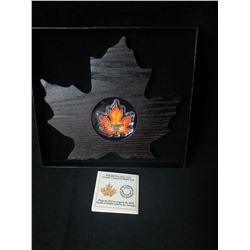 2016 $20 FINE SILVER COIN CANADA'S COLOURFUL MAPLE LEAF (99.9 % PURE)