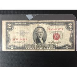 1953  UNITED STATES NOTE $2 TWO DOLLARS RED SEAL