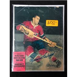 MAURICE RICHARD SIGNED PRINT W/ 1997 TRADE SHOW TICKET