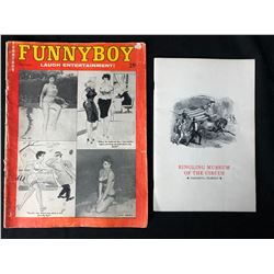 VINTAGE FUNNYBOY LAUGH ENTERTAINMENT/ RINGLING CIRCUS ILLUSTRATIONS