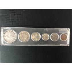 RARE 1938  CANADIAN COIN SET .800 SILVER