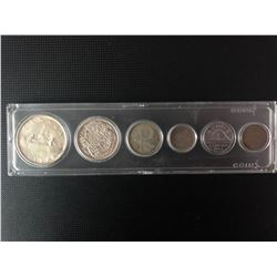 CANADIAN 1954 COIN SET .800 SILVER