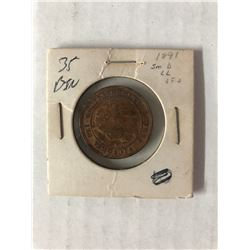 1891 CANADIAN ONE CENT