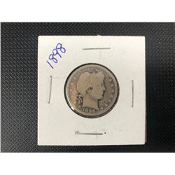1898 USA   25 CENTS  .900 SILVER