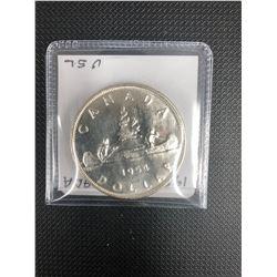 1954  CANADIAN SILVER DOLLAR   .800 SILVER