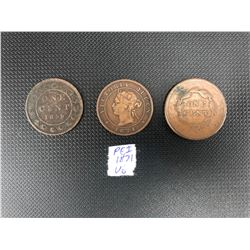 CANADIAN ONE CENT LOT (P.E.I 1871...)