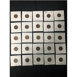 LOT OF CANADIAN ONE CENTS  1920-1969