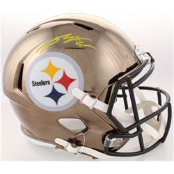 Antonio Brown Signed Pittsburgh Steelers Full-Size Chrome Speed Helmet (JSA COA)