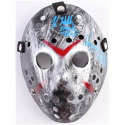 "Kane Hodder & Warrington Gillette Signed ""Friday the 13th"" Mask Inscribed ""Jason II"" (Legends COA)"