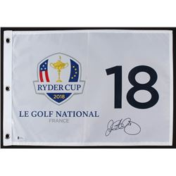Rory McIlroy Signed 2018 Ryder Cup Golf Pin Flag (Beckett COA)