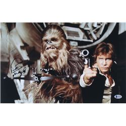 "Peter Mayhew Signed ""Star Wars"" 11x17 Photo (Beckett COA)"