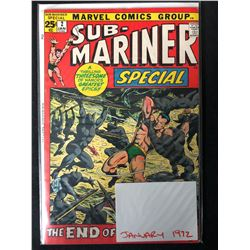 1972 SUB-MARINER #2 (MARVEL COMICS)