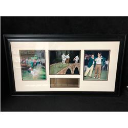 "LIMITED EDITION FRED COUPLES AUTOGRAPHED FRAMED GOLF PHOTO DISPLAY (38"" X 20"")"