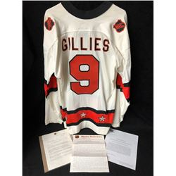 **RARE** CLARK GILLIES' 1977 GAME ISSUED ALL-STAR JERSEY & LETTERS (CLASSIC AUCTIONS LOA)