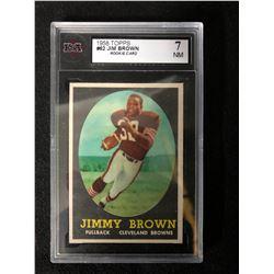 1958 TOPPS #62 JIM BROWN ROOKIE CARD (7 NM)