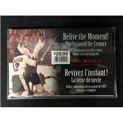 COMMEMORATIVE SILVER DOLLAR & STAMPS - RELIVE THE MOMENT - 1997