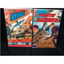 CHARLTON COMICS BOOK LOT (ATTACK/ FIGHTING MARINES)