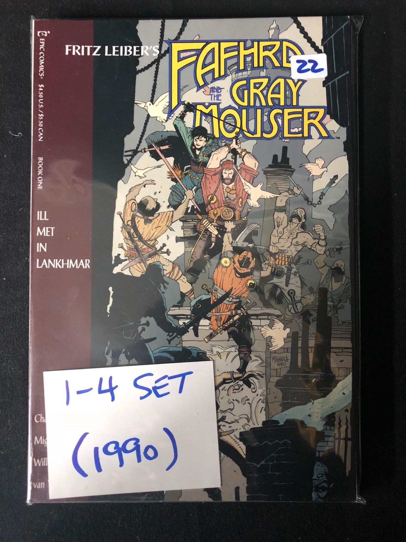 1990 FAFHRD GRAY MOUSER SET (1-4) BY FRITZ LIEBER