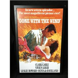 """""""GONE WITH THE WIND"""" FRAMED MOVIE POSTER (26"""" X 38"""")"""