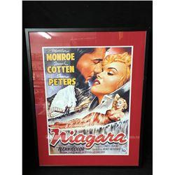 "NIAGARA TECHNICOLOR FRAMED MOVIE POSTER (28"" X 38"")"