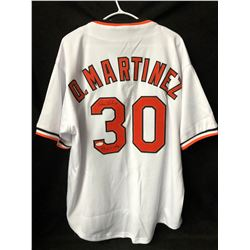 "Dennis Martinez Signed Orioles Jersey Inscribed ""83 WS Champ"" (JSA COA)"