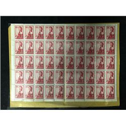 CANADIAN UNCUT STAMP SHEET (5 CENTS)