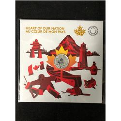 ROYAL CANADIAN MINT HEART OF OUR NATION $3  COIN .999 SILVER